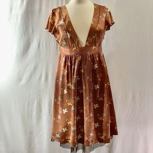Free People low vneck silk dress